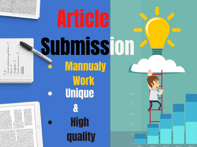 I will do manually 25 article submission high PR website.