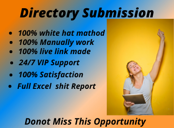 I will manually create 50 high Authority Directory Submission Backlinks