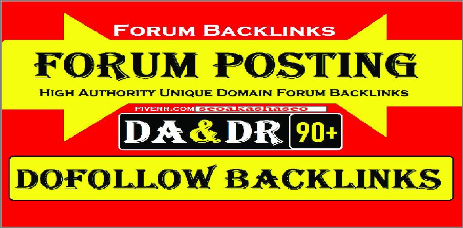 DOFOLLOW 40 Forum backlinks DA 50+ for Search Rankings