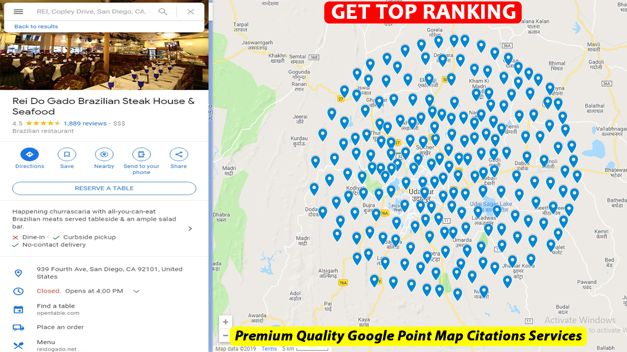 I will make 2000 google point map citation for local business