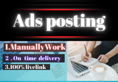 I will do manually create 10 high authority classified ads posting to top ads posting websites