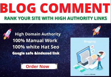50 Blog Comments high authority website permanent backlinks unique link building