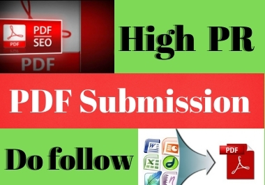 Manual 20 PDF Submission low spam high authority website permanent backlinks unique link building
