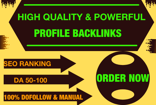 I will do 70 high da profile backlinks manually for SEO ranking