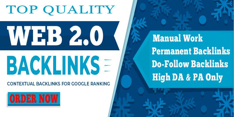 I will Provide 30 High DA Web 2.0 Contextual SEO Backlinks