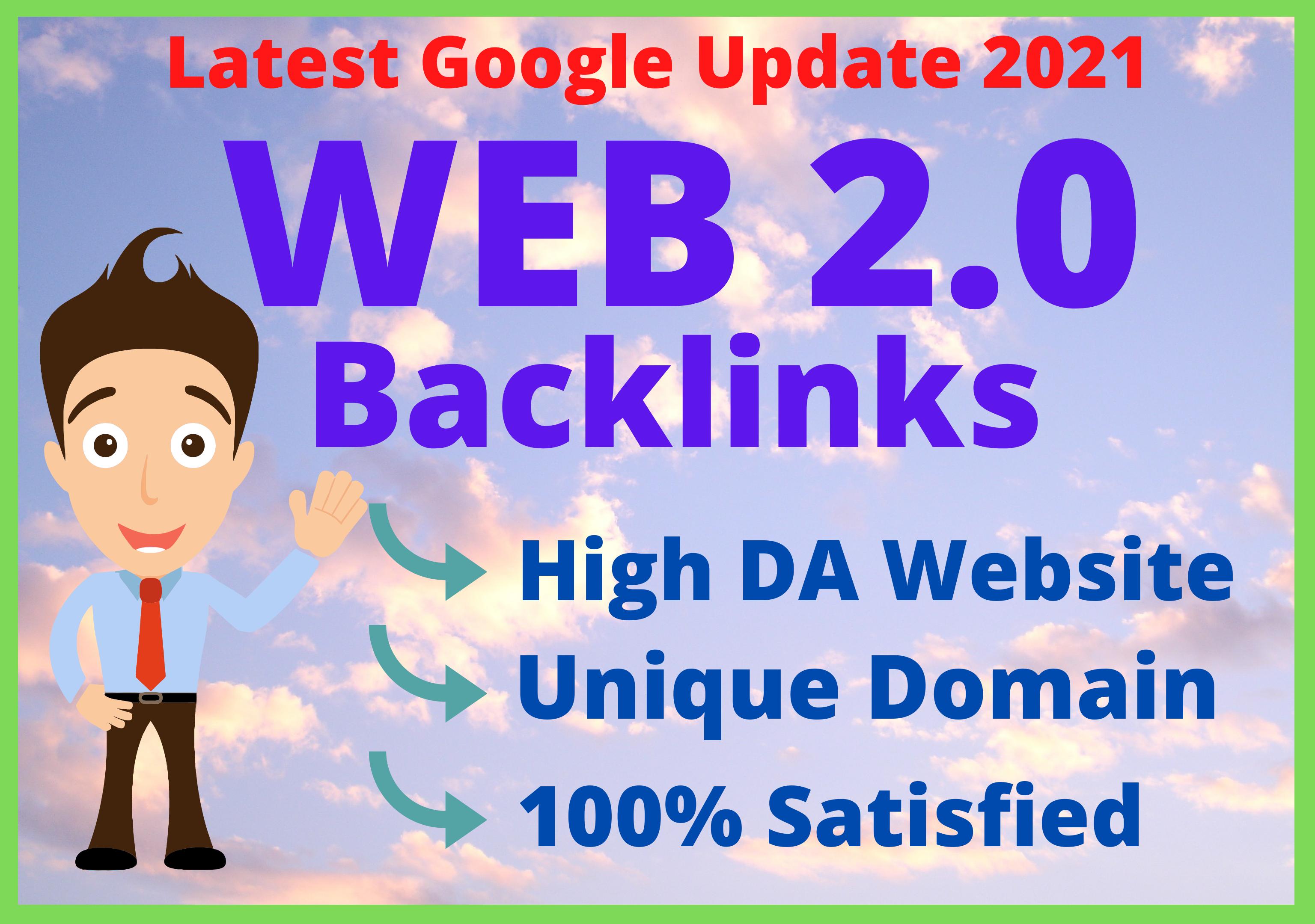 I will provide 20 Web 2.0 With High DA PA