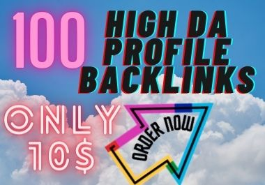 I will create 100 High Da dofollow profile backlinks da up to 50 plus