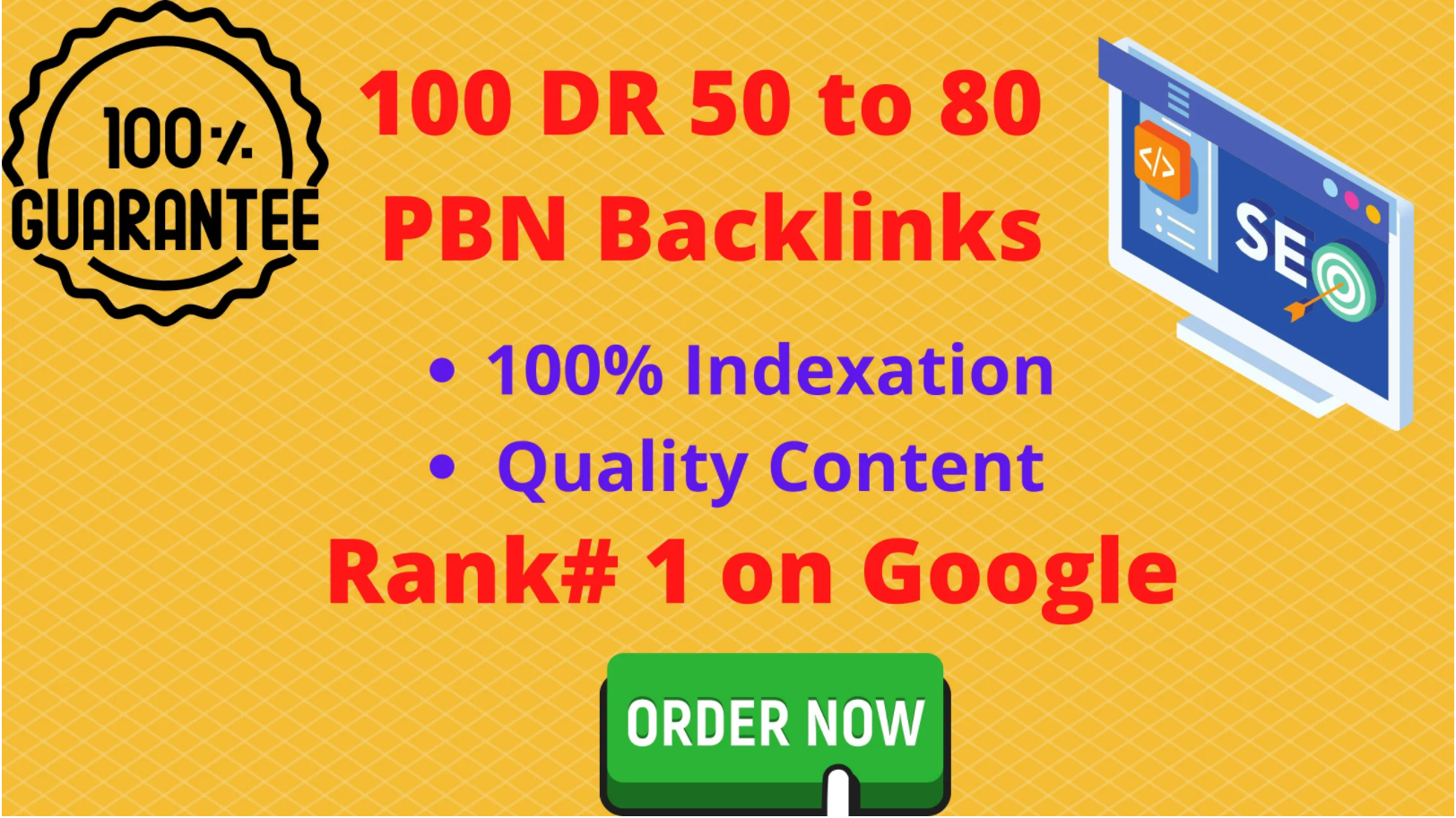 Buy 2 Get 1 Free create 100 PBN DR 50 to 80 Homepage Backlinks