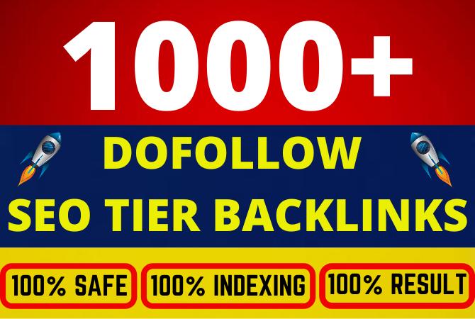 Build 1000 plus ultra SEO Dofollow tier backlinks