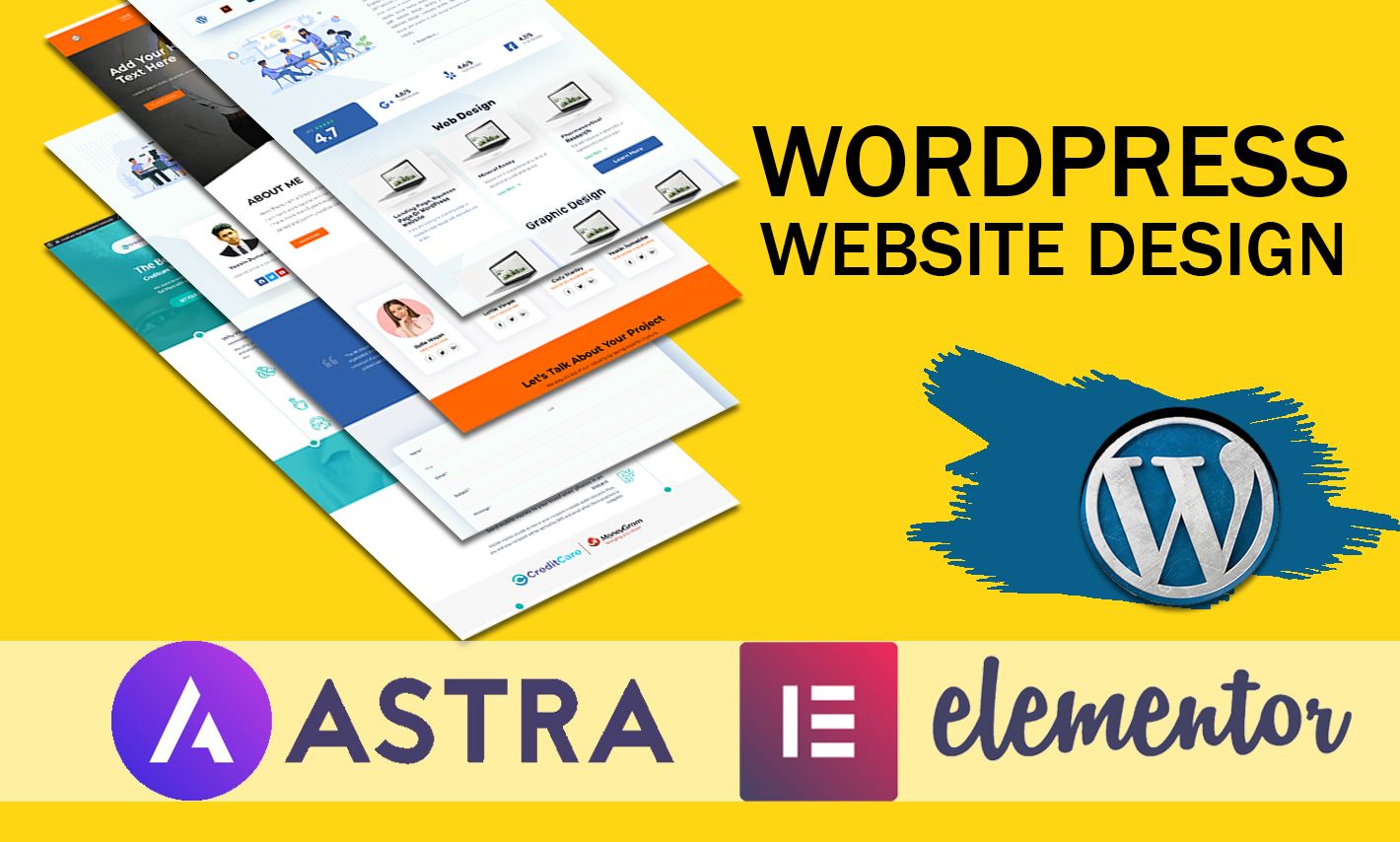 I will install and design elementor pro,  astra agency,  crocoblock,  wordpress website