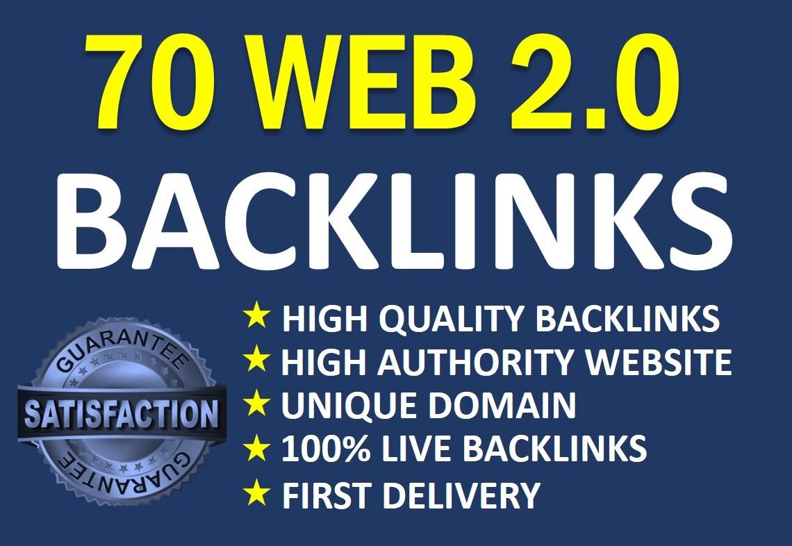 70 high authority web 2.0 backlinks