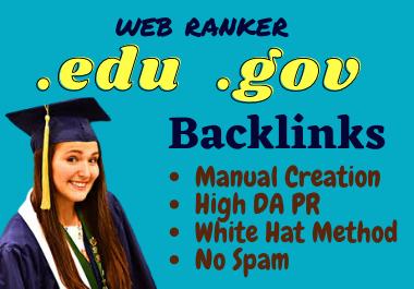 High Quality 50 Edu and Gov SEO Backlinks Service 2021