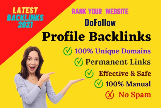 Manually Created 200 High Quality SEO Profile Backlinks