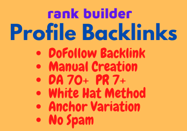High Quality 100 Manual Profile Backlinks To Boost Website Ranking