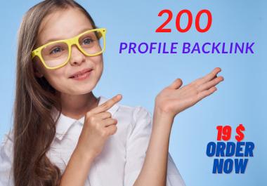I will Manually create 200 dofollow profile backlinks -2021