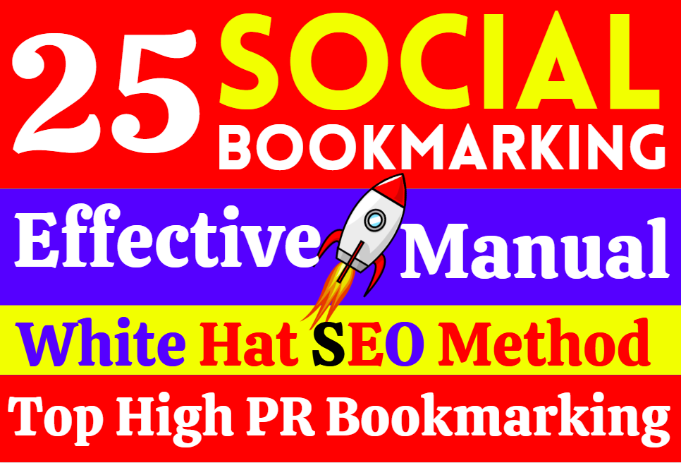 Create 25 High Quality Social Bookmarking Do Follow SEO Live Backlinks for Google Ranking permantly