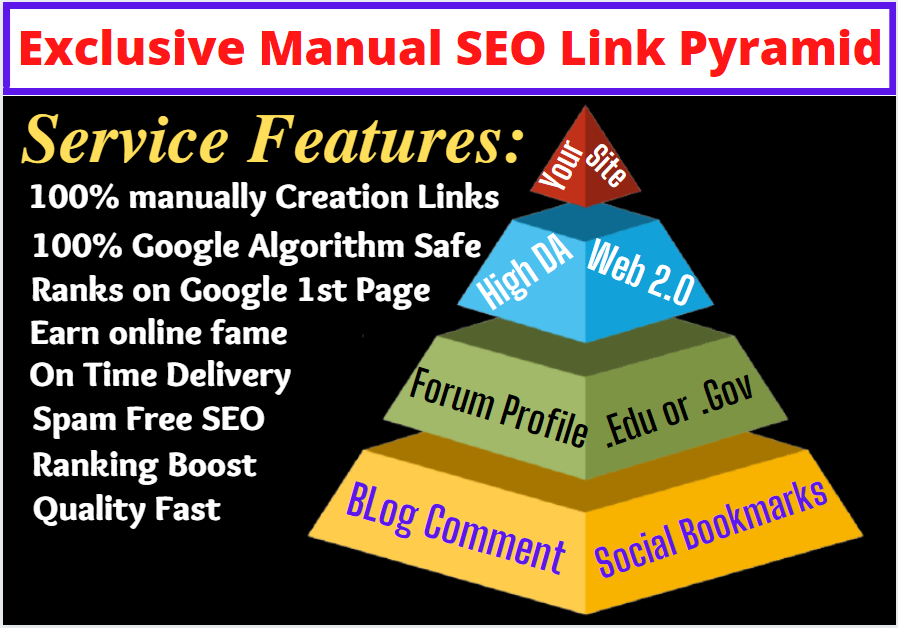 Super Powerful Multi 3 Tier Link Pyramid SEO Permanent Link Building to Rank Google first Page