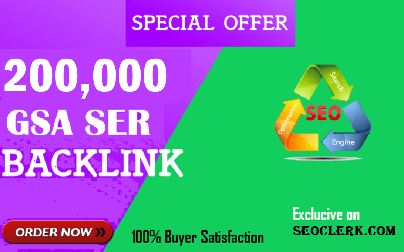 200k/ 200,000 GSA SER backlinks for website ranking