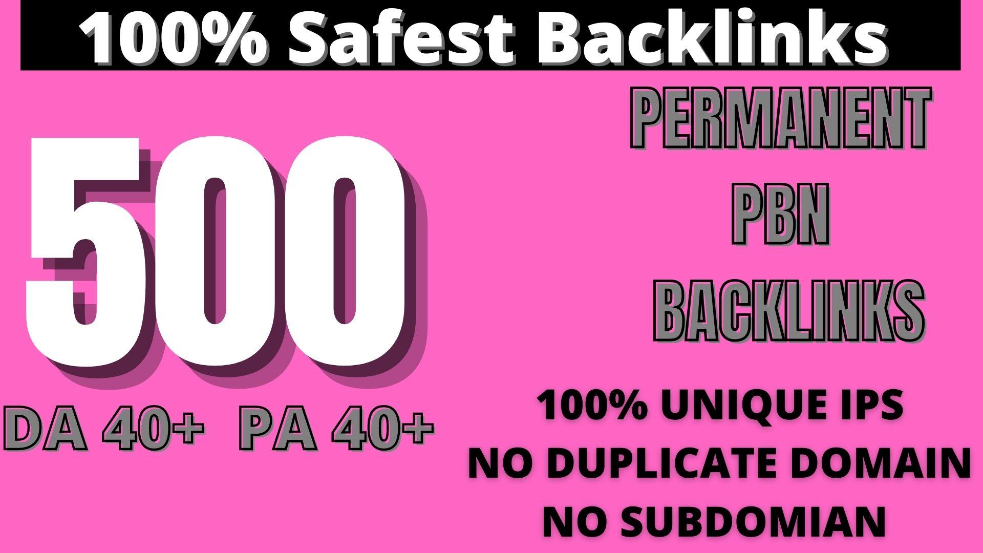 Create 500 HOMEPAGE PBN Backlinks 500 Dofollow & Permanent Links With High DA/PA/CF/TF web2.0