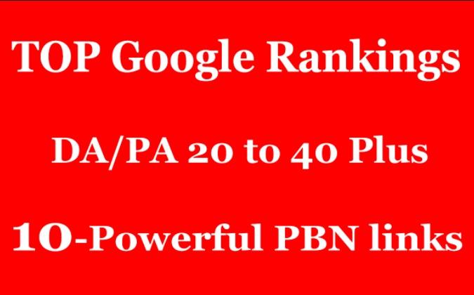 Create 10 High DA 25 to 40+ Homepage PBN Backlinks To Skyrocket you SERP Improve Your Google Ranking