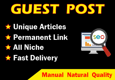 Write and Published 5 guest post with Unique site with article DA 90+ Permanent Post