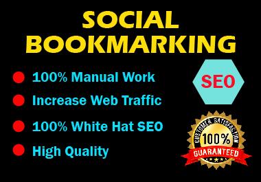 Manual 20 Social Bookmarking High authority website permanent backlink unique link building