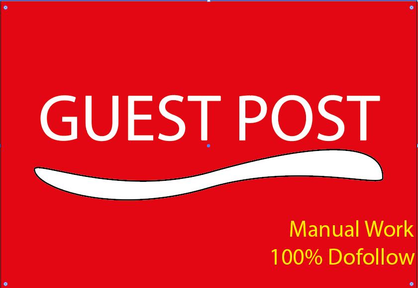 I Will Publish 5 Guest Post seo backlink with Dofollow Backlinks on High Metrics DA,  TF,  CF Sites