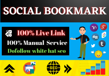 20 Social Bookmarking from high authority website permanent backlinks quality link building