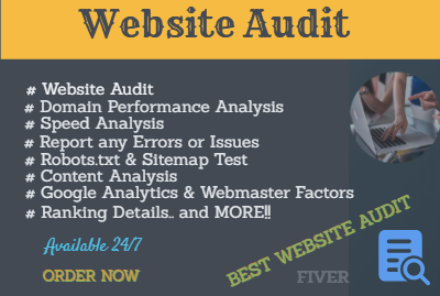 I will do website audit and competitor analysis