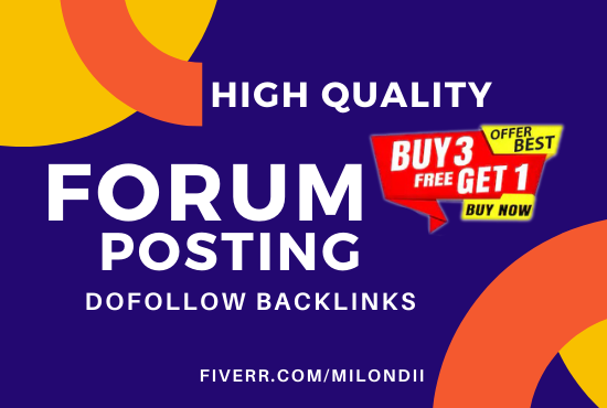 I will provide HQ forum posting and forum profile backlinks