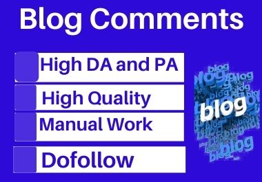 Manual 100 blog comment high authority permanent backlinks unique link building