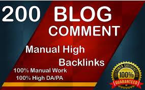 I Will Create Manually 200 Dofollow Blog Comments Backlinks