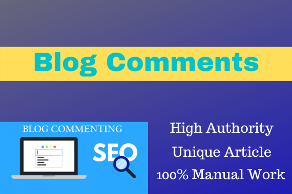 100 Blog Comments with High-Authoriry 100 Manual Work