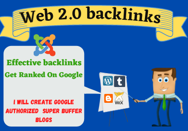 Manual 20 Web2.0 high authority backlinks permanent link building