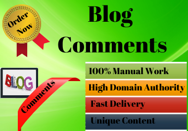 I will create 30 Blog Comments link building SEO service Do-follow backlinks.