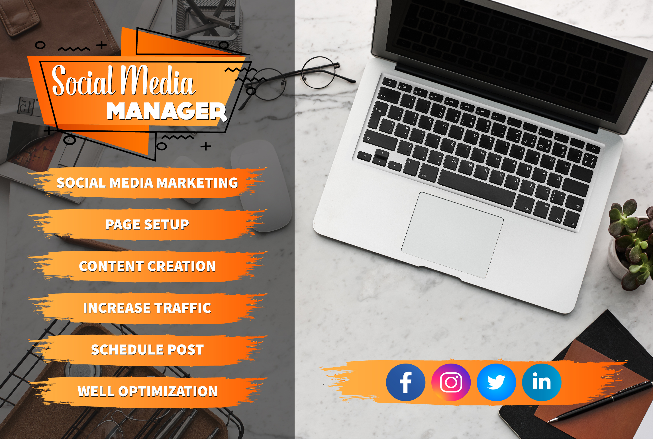 I will be your expert social media marketing manager & content creator