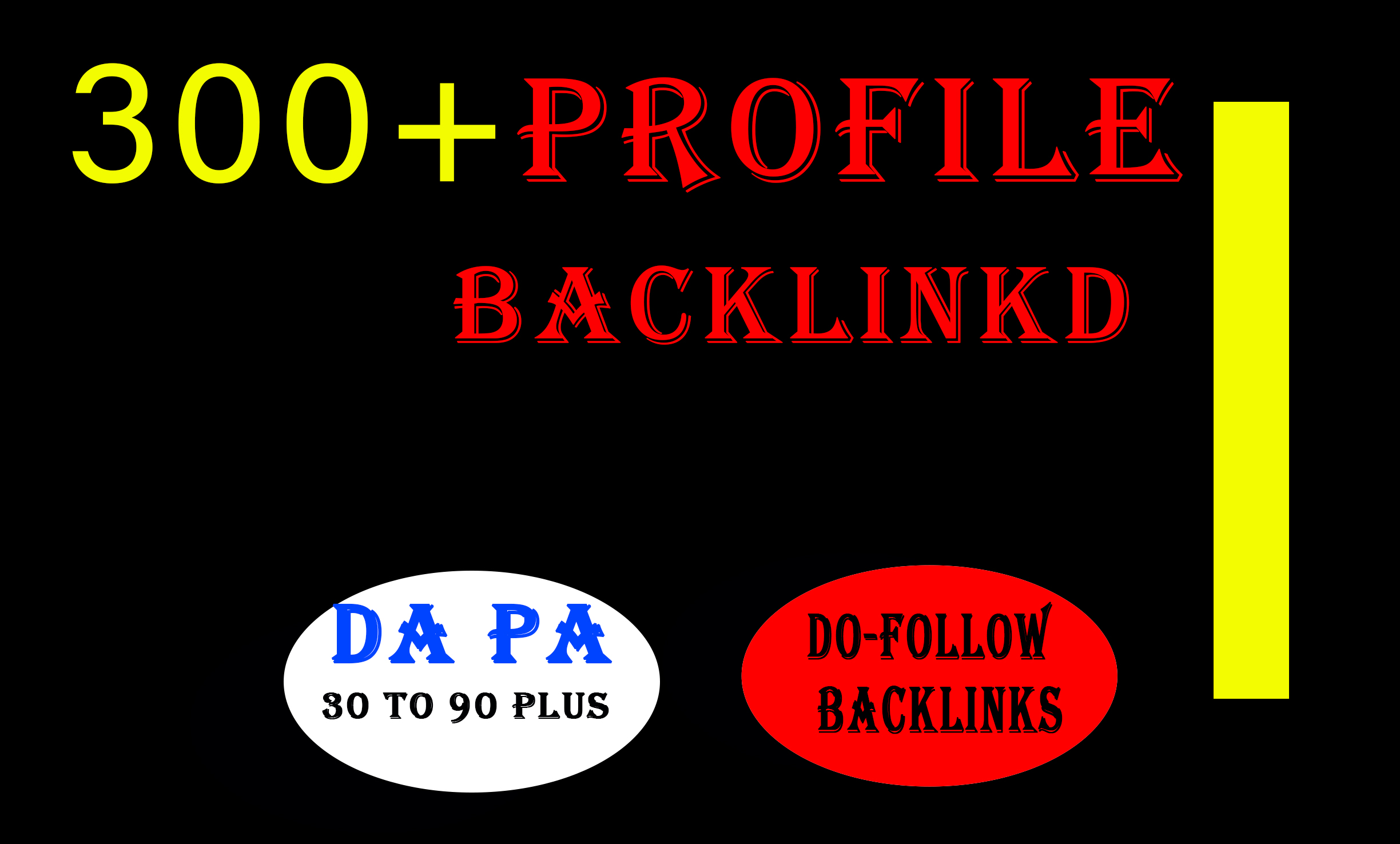 I will make manual profile backlinks on high authority websites