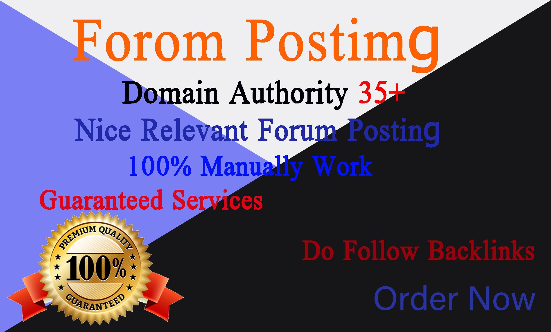 I will do 35+ quality forum posting