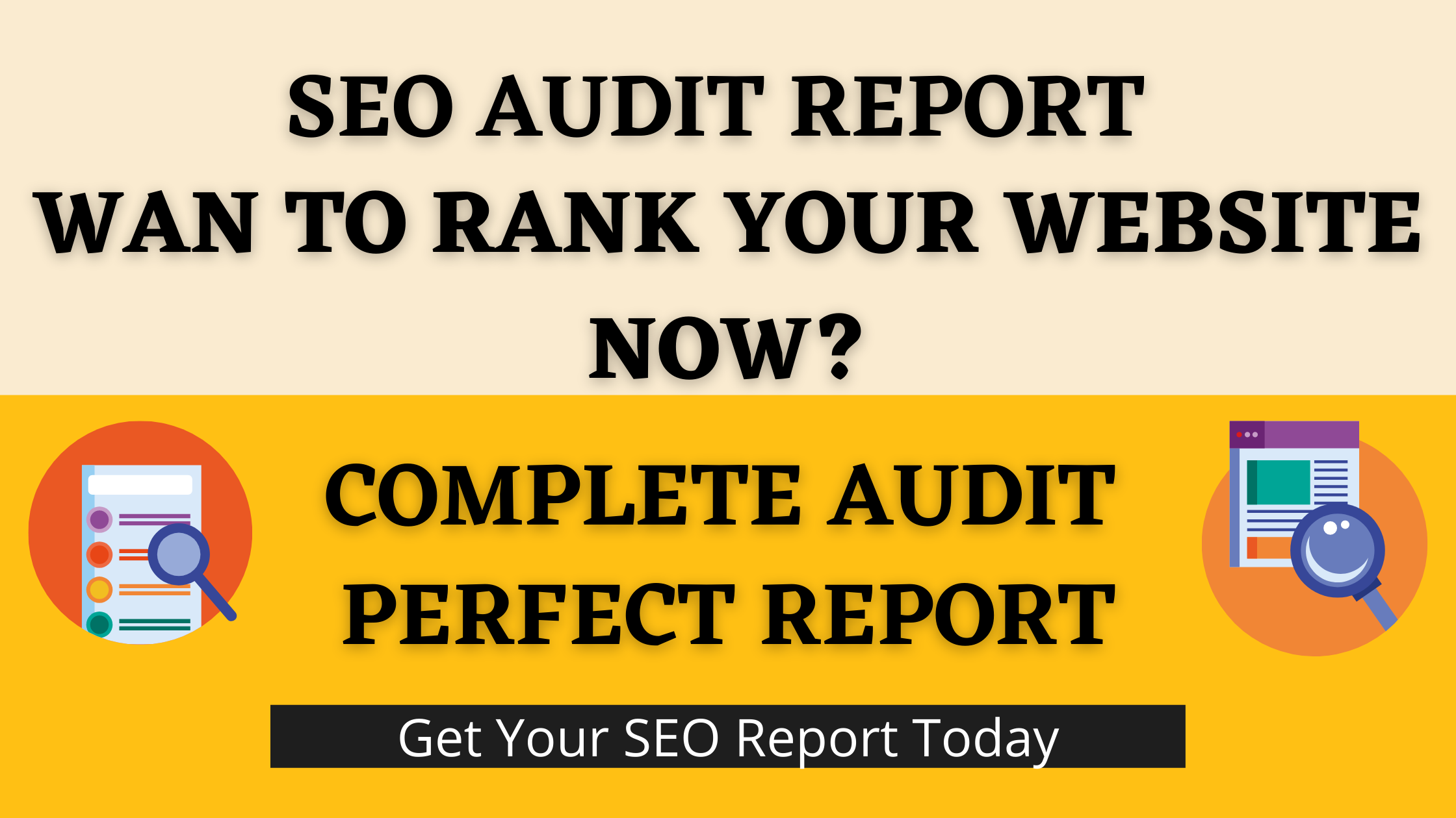 I will provide you perfect SEO Audit Report For Your Website