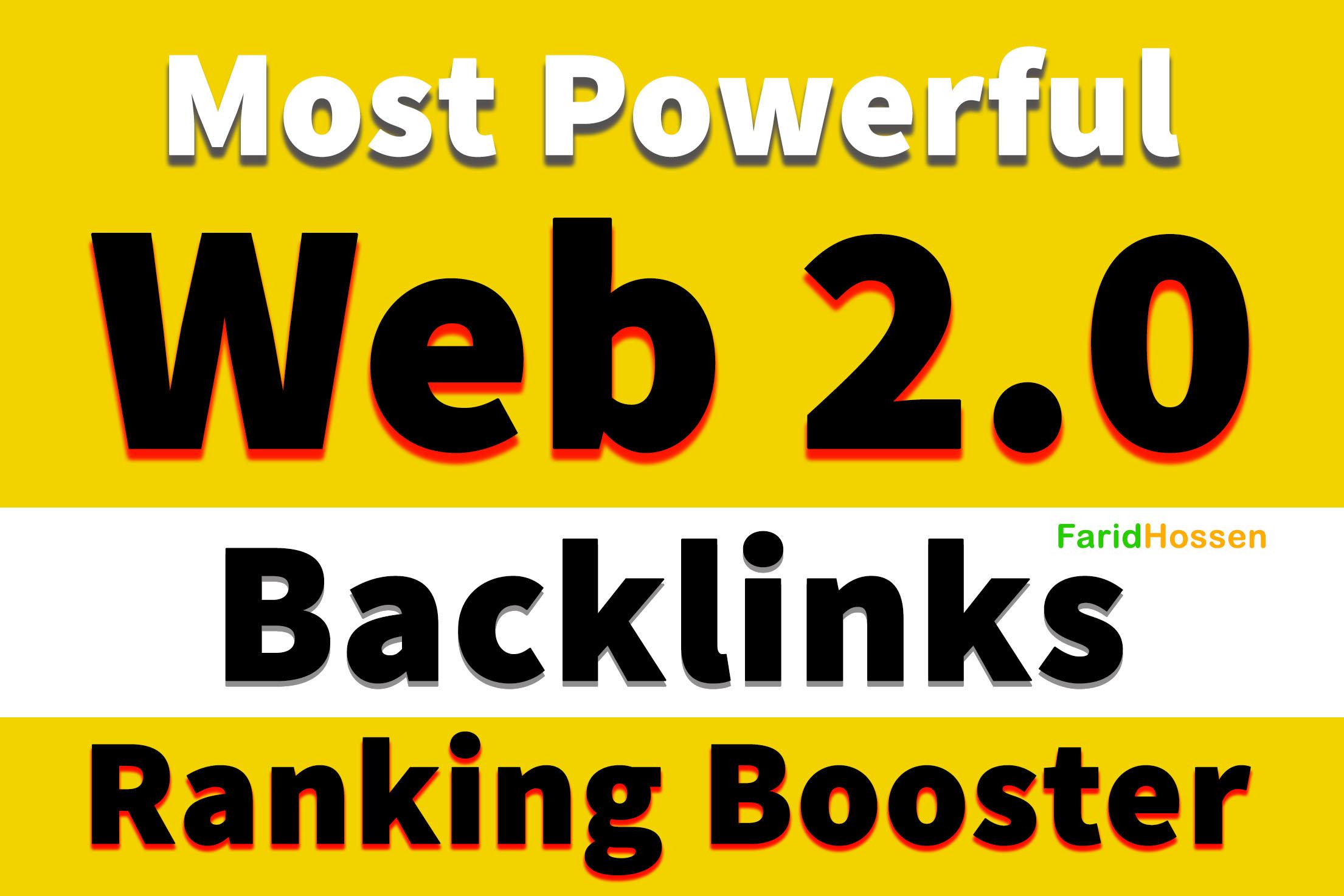 Build Powerful 20 Web2.0 Blog Backlinks High Domain Authority