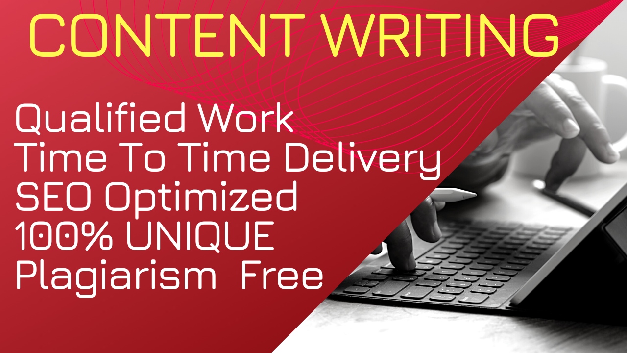 Write 1200 words Unique Article,  Blog Post & other Creative Content