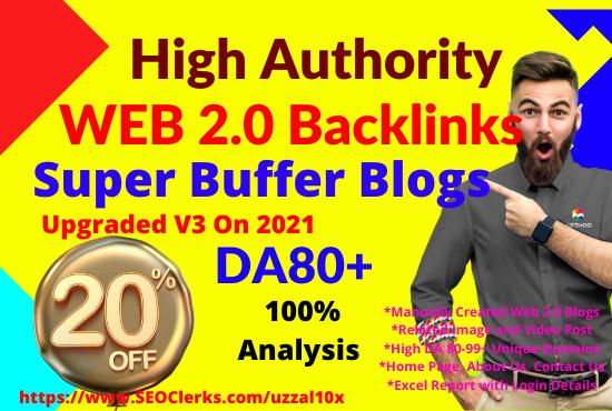20 High Quality Web 2.0 Blogs Network Homepage Backlinks