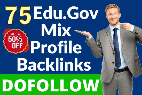 75 Dofollow DA-90 & Pr9 Edu/Gov+Profile Backlinks From - White Hat SEO