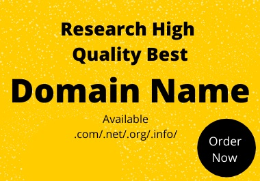 I Will Find & Research High Quality Best Domain Name For Your Business