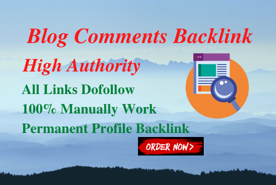 50 High Authority Blog Comments Back Links On High DA-PA
