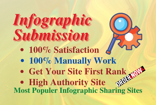 Manual 20 infographic submission onhigh authority websiste permanent backlinks unifque link building