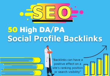 50 High quality Social profile backlinks manually create-2021