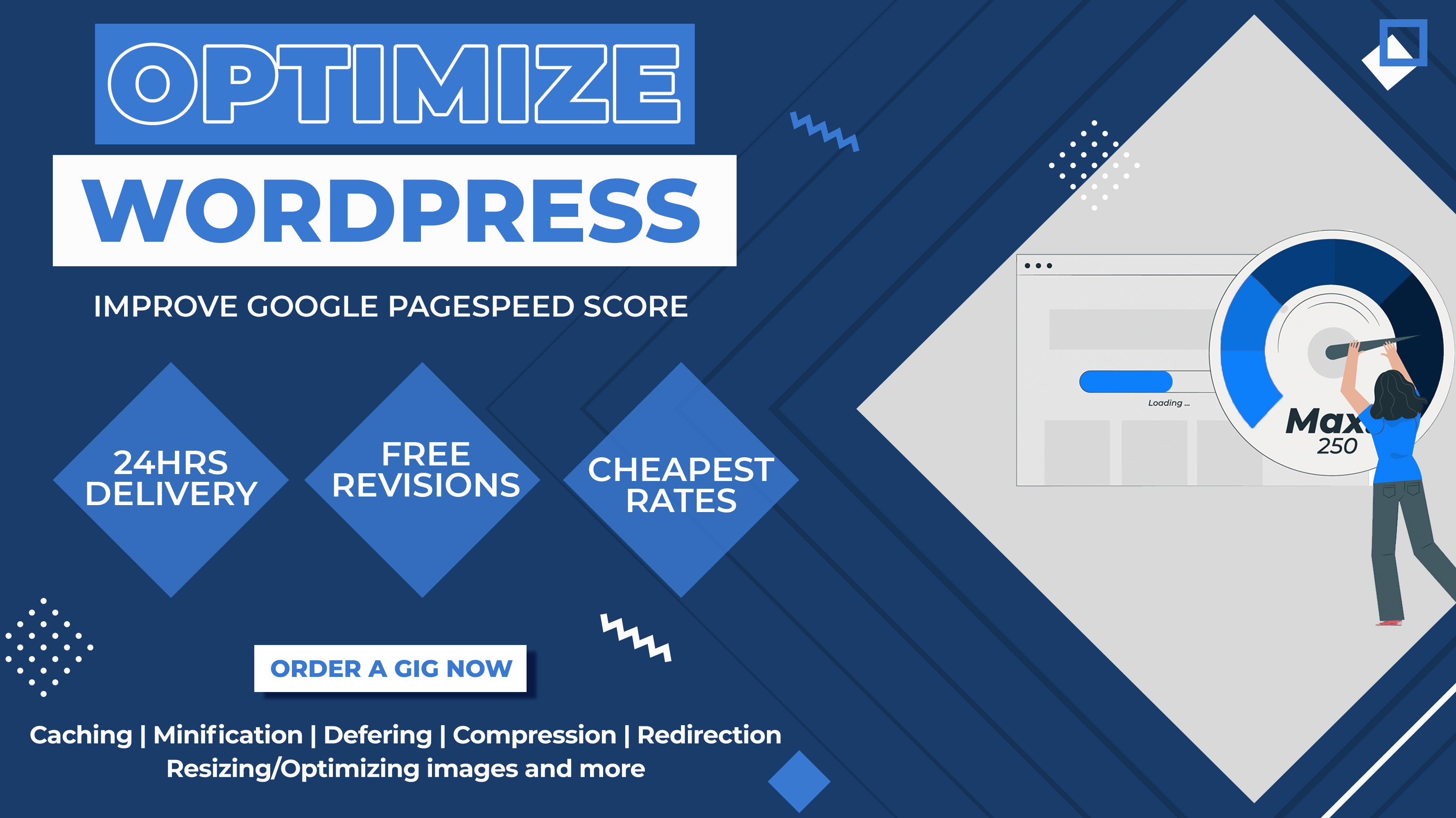 Optimize wordpress websites and fix layout shift to improve google PAGESPEED insights score