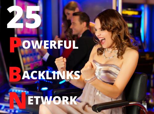 Build 25 casino poker gambling pbn backlinks with high da pa Fast ranking