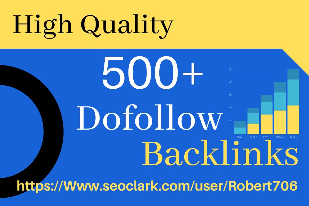 I will do 500+ High Quality Domain Permanent Dofollow Backlinks
